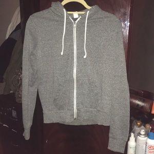 H&M Gray Zip up hoodie. Women's size small